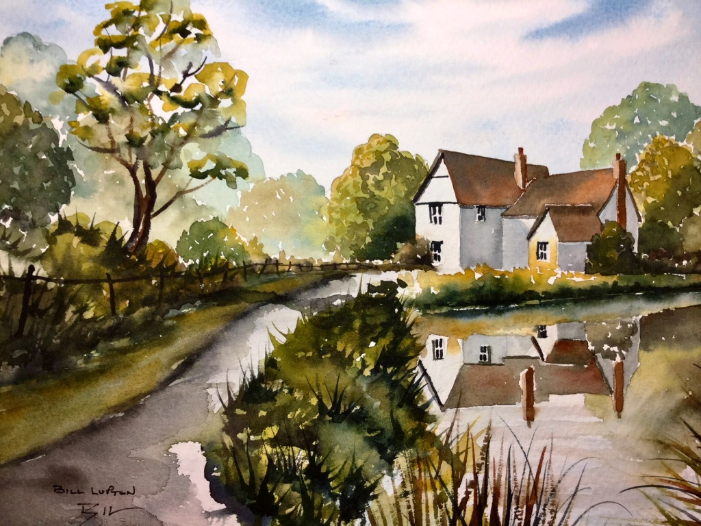 Artist by Bill Lupton Willy Lott's Cottage ACEO Limited Edition Print